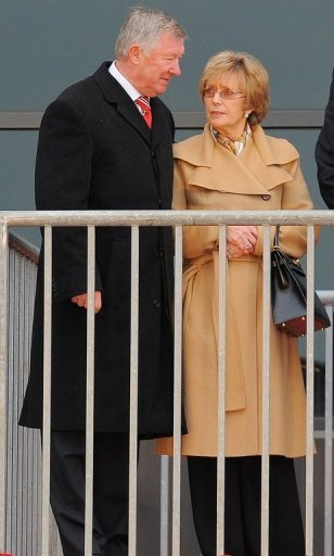 Ferguson and wife