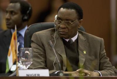 Niger's President Tandja attends the plenary session of the Africa-South America Summit in Margarita Island