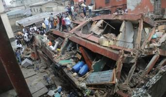 Collapsed Building At Mushin, Lagos