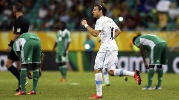 Field of play - Nigeria vs Uruguay in Salvador