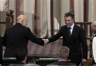 Hamid Karzai and Fogh Rasmussen