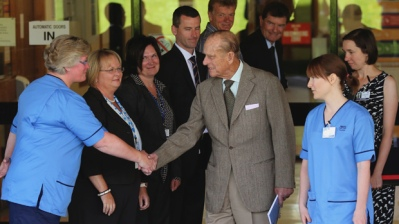 Prince Phillip leaving the hospital today